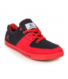 Cefiro Men Casual Shoes Fun06 Red Black CCS0028
